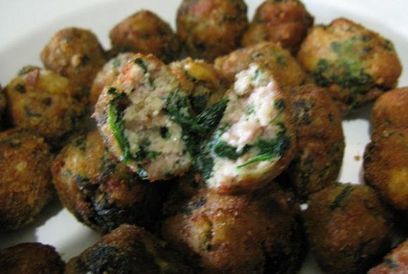 Polpette con spinaci e ricotta