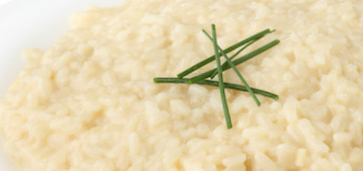 traditional italian dish - risotto - isolated white