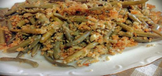 fagiolini con mollica e pecorino siciliano dop