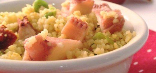 insalata di cous cous con polipo e limone femminello del gargano igp