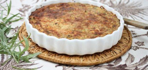 torta salata con cavolfiore e caciotta di capra