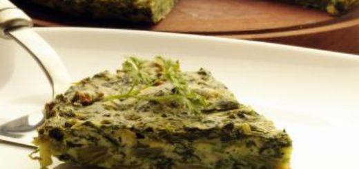frittata di spinacini freschi