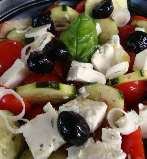 insalata greca con cipolla di tropea