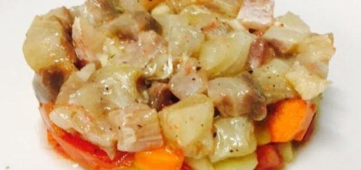 tartare di ricciola e aceto balsamico tradizionale di modena dop