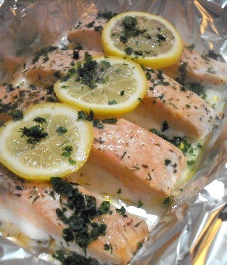 trancio salmone cartoccio