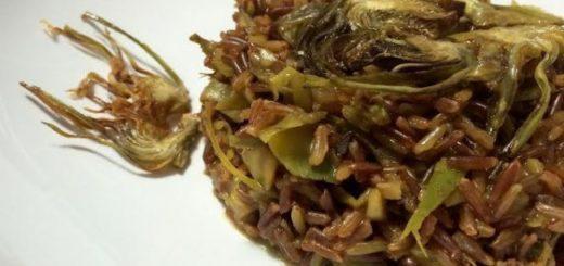 riso selvaggio con cuori di carciofo e stracchino