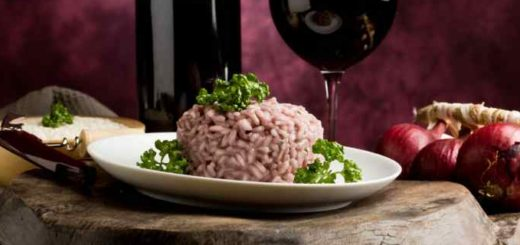 risotto all'amarone e monteveronese dop