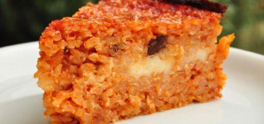 riso al pomodoro con feta e olive di cerignola dop
